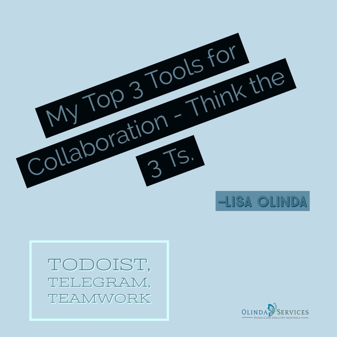 My top 3 collaboration tools