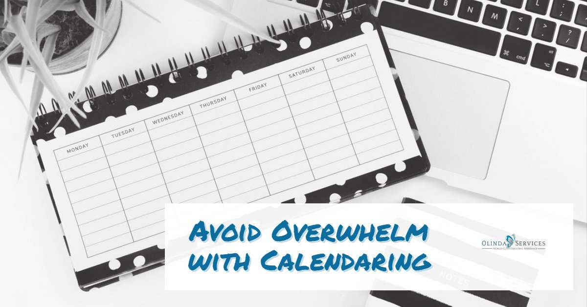 4 Things You Should be Calendaring