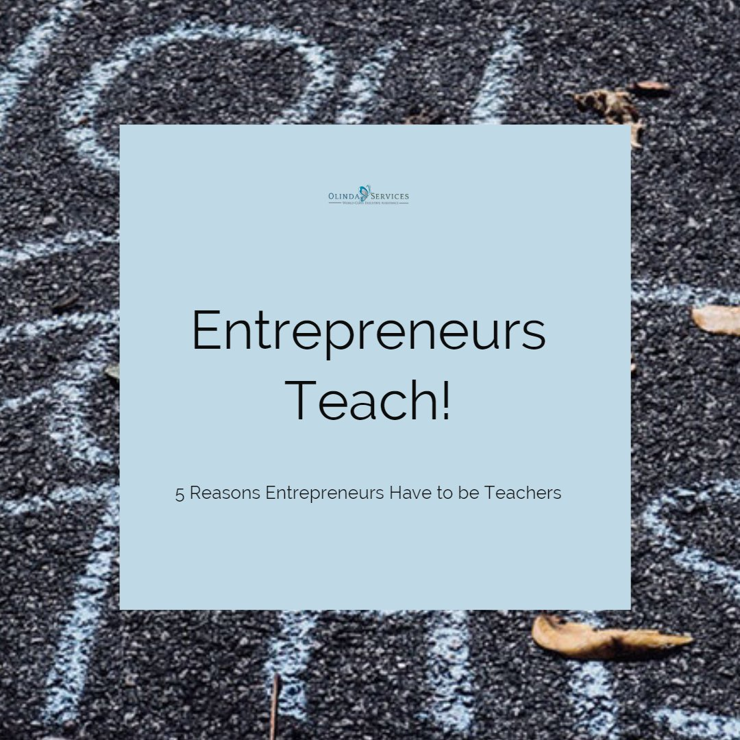 Entrepreneurs Teach